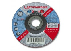 ROTHENBERGER Inox Super vágókorong, 125x1x22mm, 1db